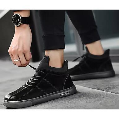 Acquista A Buon Mercato Per Uomo Scarpe Comfort Scamosciato Primavera & Autunno Sneakers Nero - Grigio - Cachi #06978173