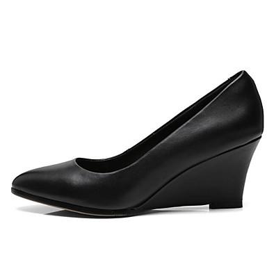 0538cfbc77 Women's Comfort Shoes Nappa Leather Fall Heels Wedge Heel Black / Beige