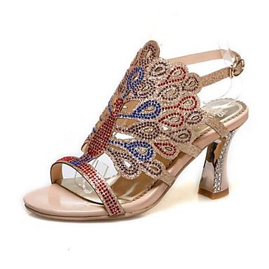 povoljno Ženske cipele-Žene Udobne cipele Sintetika Ljeto Sandale Stiletto potpetica Zelen / Plava / Badem
