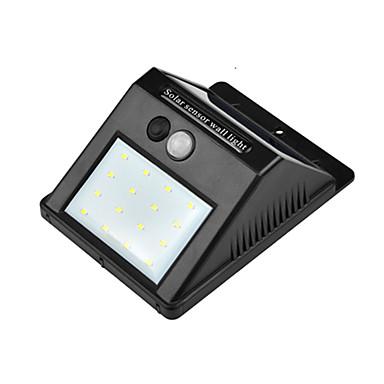 hkv® 8led luz solar del jardín lámpara solar led sensor de movimiento impermeable iluminación exterior decoración luces de la calle lámpara de pared inalámbrica de seguridad