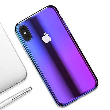 Θήκη Za Apple iPhone XS / iPhone XR / iPhone XS Max Ultra tanko / Prozirno Stražnja maska Prijelaz boje Tvrdo PC