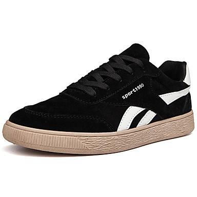 Men's Comfort Shoes Suede Fall & Winter Casual Sneakers Black / Beige / Gray