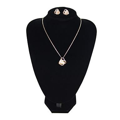 Žene Pink Viseće naušnice Choker oglice Vintage Style Vintage Naušnice Jewelry Zlato Za Formalan Festival 1set