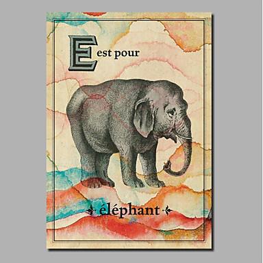 abordables Toiles-Imprimé Impression sur Toile - Animaux Vintage Theme Classique Rétro Vintage Art Prints