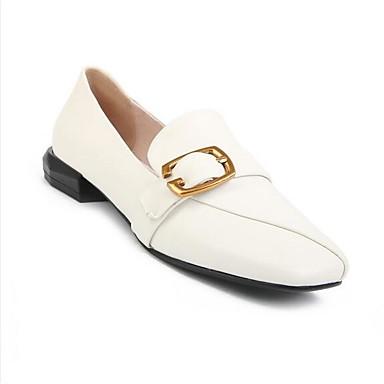 Femme Chaussures Chaussures Chaussures de confort Cuir Nappa Eté Mocassins et Chaussons+D6148 Talon Bas Blanc | Sale  fcc8dc