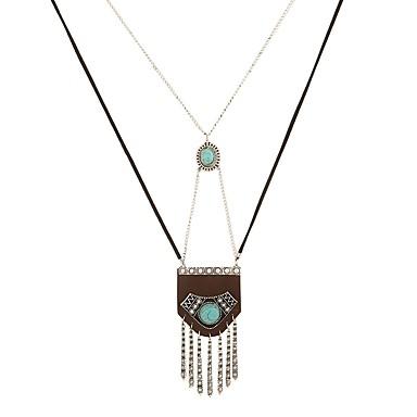 Žene Zelen Tirkiz Ogrlice s privjeskom Long dame Vjenčanje Kaubojski Korejski Legura Zlato Pink 73 cm Ogrlice Jewelry 1pc Za Maškare Spoj