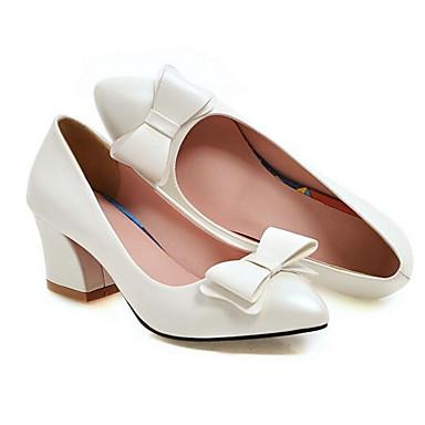 62d6d819fe Γυναικεία Παπούτσια άνεσης PU Χειμώνας Τακούνια Κοντόχοντρο Τακούνι Κόκκινο    Ροζ   Μπλε Απαλό   Καθημερινά