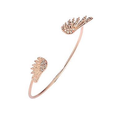 baratos Bangle-Mulheres Bracelete Clássico Estiloso Liga Pulseira de jóias Dourado / Prata Para Diário