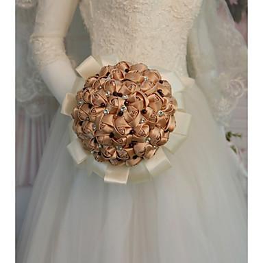 Cvijeće za vjenčanje Buketi Vjenčanje / Svadba Drago kamenje i kristali / Svila 11-20 cm