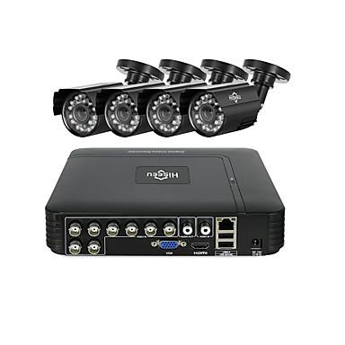 hiseeu® cctv 8ch sigurnosni fotoaparat postavljen 4pcs 1080p ahd vodootporna ulična kamera vanjski 2mp video nadzor home