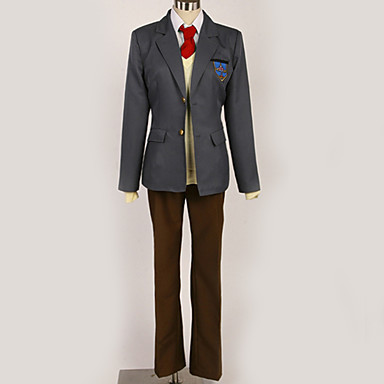 Inspirirana Besplatno! Nagisa Hazuki Anime Cosplay nošnje Japanski Cosplay Suits / School Uniforms Jednobojni / Grad / Jednostavan Kravata / Kaput / Bluza Za Muškarci / Žene / Top