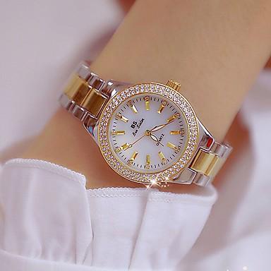 f4cffe1df رخيصةأون ساعات الماس-نسائي ساعة المعصم الماس ووتش ساعة ذهبية ياباني كوارتز  ستانلس ستيل ذهبي