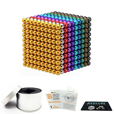 cheap Toys & Games-1000 pcs 3mm Magnet Toy Magnetic Balls Magnet Toy Building Blocks Magnetic Stress and Anxiety Relief Office Desk Toys Relieves ADD, ADHD, Anxiety, Autism Novelty Kid's / Teenager / Adults' All Boys