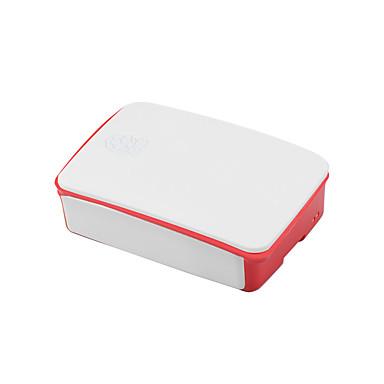 dedikeret kabinet til raspberry pi 3b generation 2 abs materiale 26 * 96 * 71mm hvid-rød
