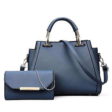 Žene Gumbi / Patent-zatvarač PU Bag Setovi Kompleti za vrećice Jedna barva 2 kom Crn / Braon / Plava / Jesen zima