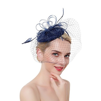 Non-woven fabric / Feathers Fascinators / Headdress with Feather 1 Piece Wedding / Special Occasion Headpiece