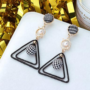 Žene Viseće naušnice Klasičan dame Europska Biseri Pozlaćeni Naušnice Jewelry Crn Za Dnevno 1 par