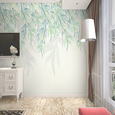 cheap Wall Art-Wallpaper / Mural Canvas Wall Covering - Adhesive required Painting / Art Deco / 3D