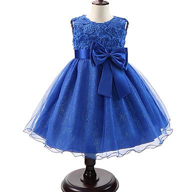 ccf5992bc92f Bambino (1-4 anni) Da ragazza Dolce   Da principessa Feste Fantasia floreale  Con fiocco   Multistrato Senza maniche Vestito Rosa