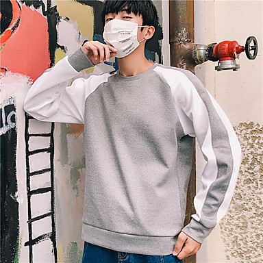 Muškarci Uski okrugli izrez Kolaž Futópóló Color block Spandex Trčanje Fitness Trening u teretani Majice Veći konfekcijski brojevi Dugih rukava Odjeća za rekreaciju Prozračnost Quick dry