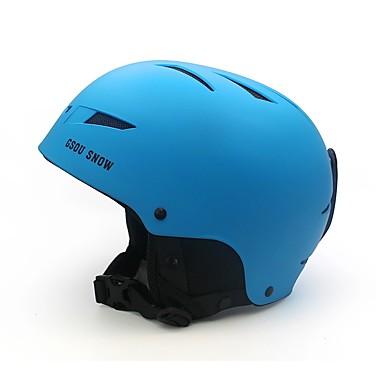 GSOU SNOW スキーヘルメット 男性用 女性用 アイススケート マルチスポーツ スノーボード 耐衝撃 エアロヘルメット 安全用具 ポリプロピレン+ABS樹脂 CE