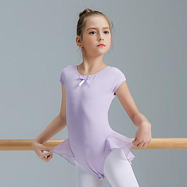 Balet Majice Djevojčice Trening Spandex Kombinacija materijala Kratkih rukava Visok Hula-hopke / Onesie