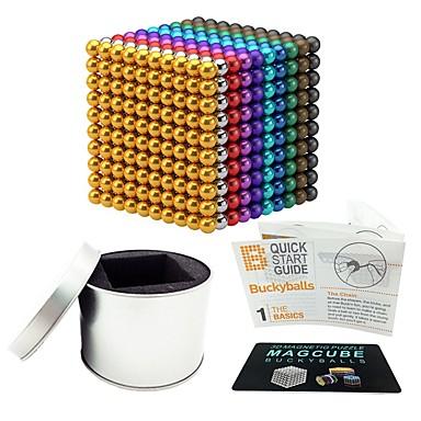 1000 pcs 5mm Juguetes Magnéticos Bolas magnéticas Juguetes Magnéticos Bloques de Construcción Magnética Alivio del estrés y la ansiedad Juguetes de oficina Alivia ADD, ADHD, Ansiedad, Autismo Novedad