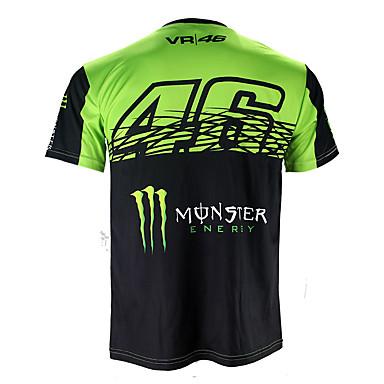 povoljno Motociklističke jakne-motogp t-shirt jahanje odijela motocikl vr46 knight locy pamuk kratkih rukava trkaći odijelo majica