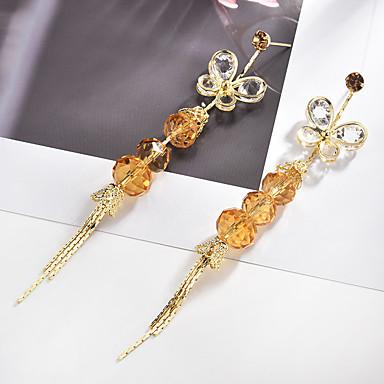 12b3eb781df2 Mujer Circonita Largo Pendientes colgantes Brillante Aretes Mariposa Espiga  Importante damas Vintage Elegante Joyas Dorado Para Ceremonia Fiesta de  Noche 1 ...