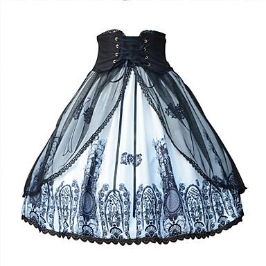 85b33ce191 Amaloli Lolita Clásica y Tradicional Tradicional   Retro Estilo Gótico Raso  Mujer Falda Cosplay Negro Disfraces
