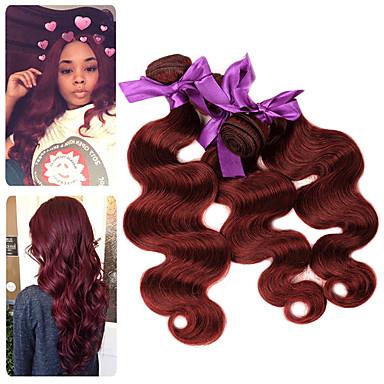 3 paketa Malezijska kosa Tijelo Wave Remy kosa Ekstenzije od ljudske kose 10-26 inch Isprepliće ljudske kose Nježno Najbolja kvaliteta Novi Dolazak Proširenja ljudske kose / 10A