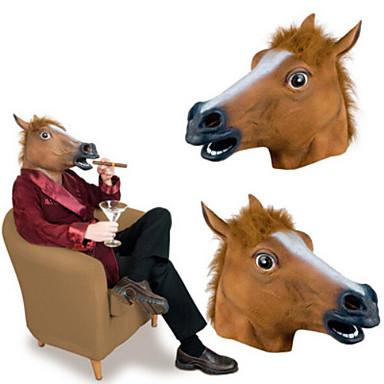 voordelige Maskers voor de feestdagen-Paardenkop Halloweenmaskers Hallloween figuren Paard Horrorthema Kumi Liima Volwassenen Heren Dames Speeltjes Geschenk 1 pcs