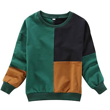 baratos Suéteres & Cardigans para Meninas-Infantil Para Meninas Moda de Rua Diário Estampa Colorida Manga Longa Padrão Suéter & Cardigan Verde
