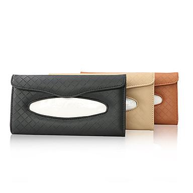 voordelige Auto-interieur accessoires-Auto-organizers Tissue doos Leder / Hout Voor Universeel Alle jaren Alle Modellen