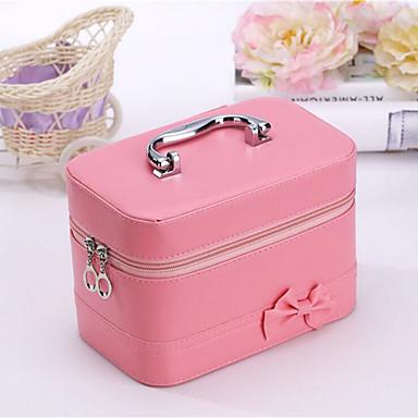 Pu Borsa Per Cosmetica Cerniera Fucsia - Azzurro Cielo - Rosa #07012082 E Avere Una Lunga Vita