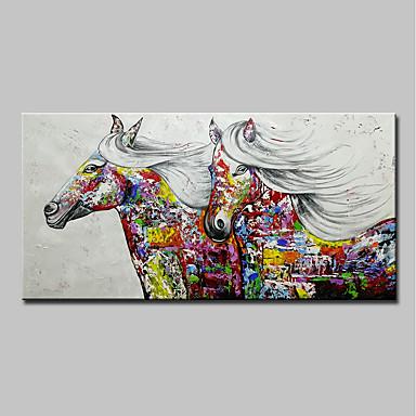 Hang oslikana uljanim bojama Ručno oslikana - Sažetak Pop art Moderna Uključi Unutarnji okvir / Prošireni platno