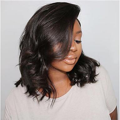 cheap Human Hair Wigs-Human Hair Lace Front Wig Bob Short Bob style  Brazilian Hair 046f2b917d