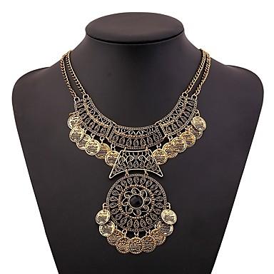 voordelige Dames Sieraden-Dames Kraag Dames Vintage Afrikaanse Elizabeth Locke Legering Goud Zilver 46+5 cm Kettingen Sieraden 1pc Voor Festival