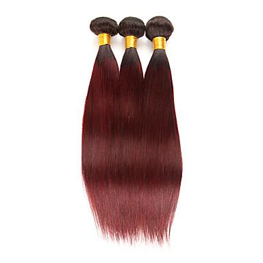 3 paketa Brazilska kosa Ravan kroj Remy kosa Ekstenzije od ljudske kose 10-26 inch Isprepliće ljudske kose Nježno Najbolja kvaliteta Novi Dolazak Proširenja ljudske kose / 10A