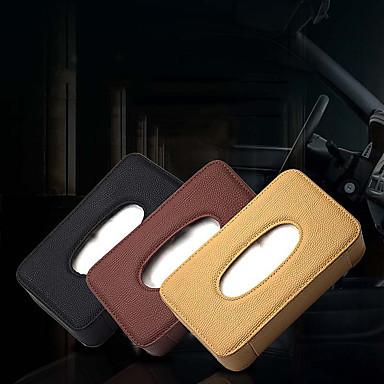 voordelige Auto-interieur accessoires-de ran fu litchi patroon houten tissue box auto met schuifdak / zonnescherm deur zijkant / stoel terug