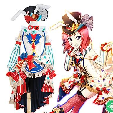 Inspirirana Ljubav uživo Cosplay Anime Cosplay nošnje Japanski Cosplay Suits Kolaž / Miks boja Haljina / Luk / More Accessories Za Muškarci / Žene