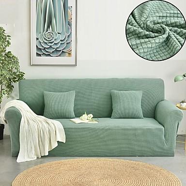 رخيصةأون غطاء-غطاء أريكة لون سادة طباعة متفاعلة بوليستر الأغلفة