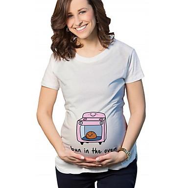 918c7a8bc412 T-shirt Per donna Moda città Cartoni animati Bianco XL
