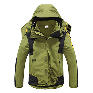 Men's Hiking 3-in-1 Jackets outdoor Spring Fall Winter Windproof Waterproof Thermal / Warm Breathable Quick Dry Ultraviolet Resistant Anti-Eradiation Detachable Cap Detachable Fleece Hiking Jackets