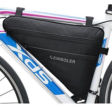 billige Sykkelvesker-Vesker til sykkelramme 40*45*30*6 tommers Vanntett Refleksbånd Sykling til Sykling Svart Fjellsykkel Veisykling Utendørs Trening