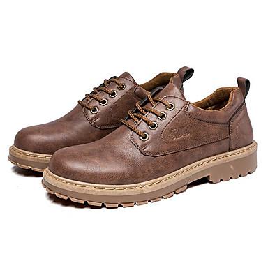 رجالي أحذية الراحة PU ربيع & الصيف بريطاني أوكسفورد أسود / بني فاتح / بني داكن