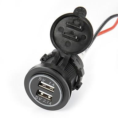 tanie Samochód Elektronika-auto-ładowarka samochodowa lossmann auto double usb wodoodporna ładowarka samochodowa 5v 2.1a