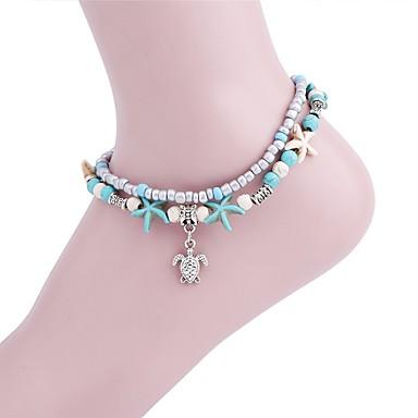 d1a2e994a Women s Light Blue Turquoise Vintage Style Ankle Bracelet Turtle Starfish  Unique Design Dangling Vintage Anklet Jewelry