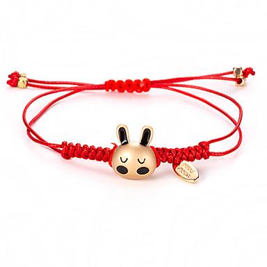 voordelige Dames Sieraden-Gevlochten Vriendschaps armband - Rabbit Eenvoudige Stijl, Koreaans, Modieus Goud Voor Dagelijks Dames