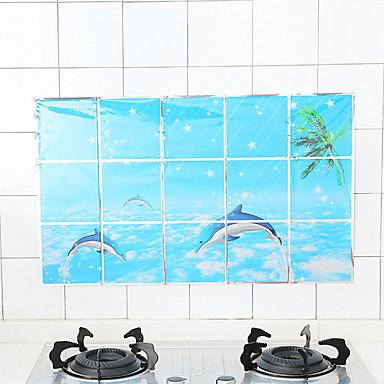 Keittiö Siivoustarvikkeet Muovit Oil-Proof Stickers Suoja 2pcs